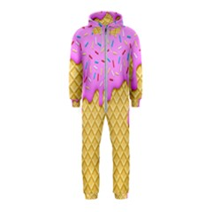 Strawberry Ice Cream Hooded Jumpsuit (kids)