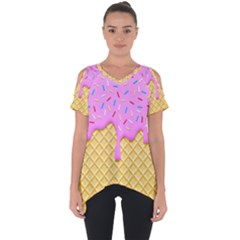 Strawberry Ice Cream Cut Out Side Drop Tee