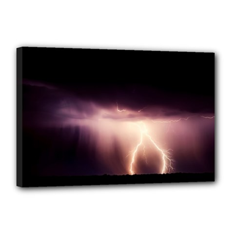 Storm Weather Lightning Bolt Canvas 18  X 12