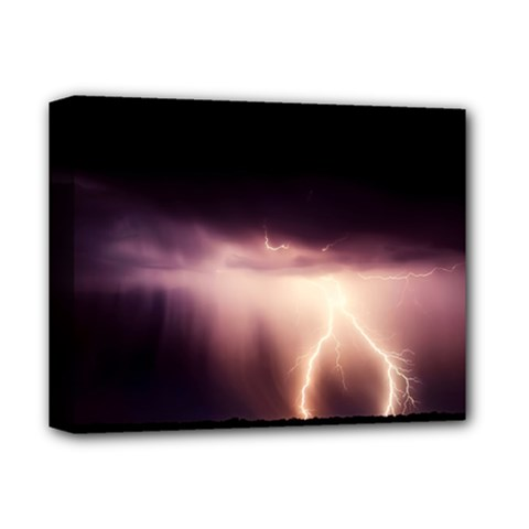 Storm Weather Lightning Bolt Deluxe Canvas 14  X 11
