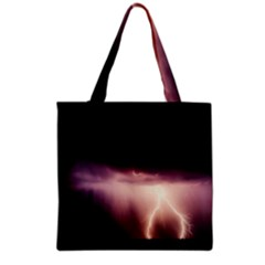 Storm Weather Lightning Bolt Grocery Tote Bag