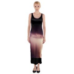 Storm Weather Lightning Bolt Fitted Maxi Dress