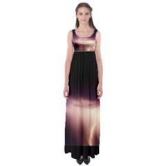 Storm Weather Lightning Bolt Empire Waist Maxi Dress