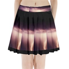 Storm Weather Lightning Bolt Pleated Mini Skirt
