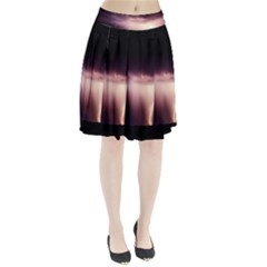 Storm Weather Lightning Bolt Pleated Skirt