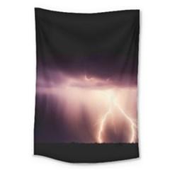 Storm Weather Lightning Bolt Large Tapestry