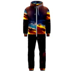 India Sunset Sky Clouds Mountains Hooded Jumpsuit (men)