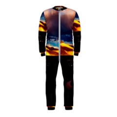 India Sunset Sky Clouds Mountains Onepiece Jumpsuit (kids)