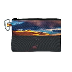 India Sunset Sky Clouds Mountains Canvas Cosmetic Bag (medium)