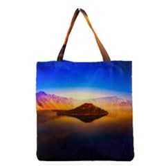 Crater Lake Oregon Mountains Grocery Tote Bag