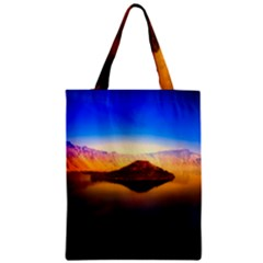 Crater Lake Oregon Mountains Zipper Classic Tote Bag