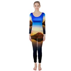 Crater Lake Oregon Mountains Long Sleeve Catsuit