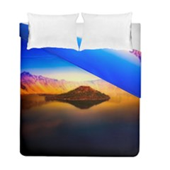 Crater Lake Oregon Mountains Duvet Cover Double Side (full/ Double Size)