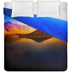 Crater Lake Oregon Mountains Duvet Cover Double Side (king Size)