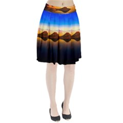 Crater Lake Oregon Mountains Pleated Skirt