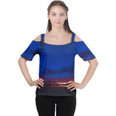 Canada Lake Night Evening Stars Cutout Shoulder Tee