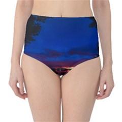 Canada Lake Night Evening Stars High Waist Bikini Bottoms