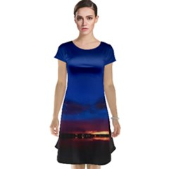 Canada Lake Night Evening Stars Cap Sleeve Nightdress