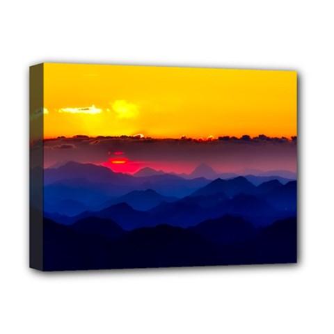 Austria Landscape Sky Clouds Deluxe Canvas 16  X 12