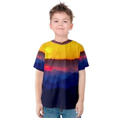 Austria Landscape Sky Clouds Kids  Cotton Tee