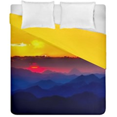 Austria Landscape Sky Clouds Duvet Cover Double Side (california King Size)
