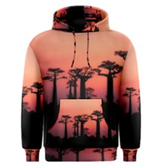 Baobabs Trees Silhouette Landscape Men s Pullover Hoodie