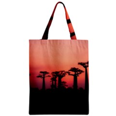 Baobabs Trees Silhouette Landscape Zipper Classic Tote Bag