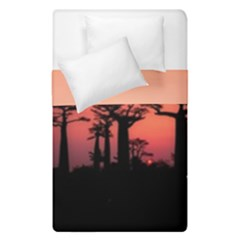 Baobabs Trees Silhouette Landscape Duvet Cover Double Side (single Size)