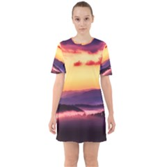 Great Smoky Mountains National Park Sixties Short Sleeve Mini Dress