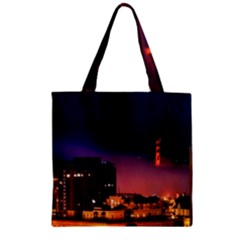 San Francisco Night Evening Lights Zipper Grocery Tote Bag