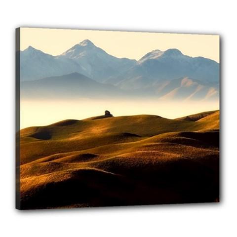 Landscape Mountains Nature Outdoors Canvas 24  X 20
