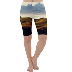 Landscape Mountains Nature Outdoors Cropped Leggings