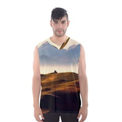Landscape Mountains Nature Outdoors Men s Basketball Tank Top