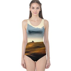Landscape Mountains Nature Outdoors One Piece Swimsuit