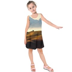 Landscape Mountains Nature Outdoors Kids  Sleeveless Dress