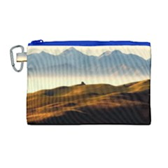 Landscape Mountains Nature Outdoors Canvas Cosmetic Bag (large)