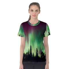 Aurora Borealis Northern Lights Women s Cotton Tee