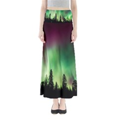 Aurora Borealis Northern Lights Full Length Maxi Skirt