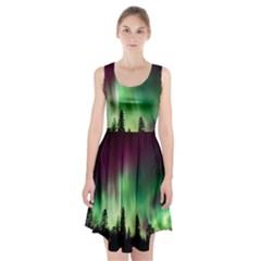 Aurora Borealis Northern Lights Racerback Midi Dress