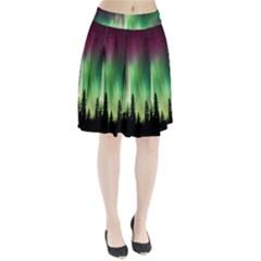 Aurora Borealis Northern Lights Pleated Skirt