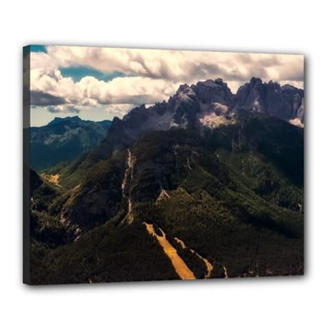 Italy Valley Canyon Mountains Sky Canvas 20  X 16