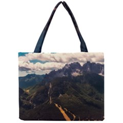 Italy Valley Canyon Mountains Sky Mini Tote Bag