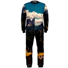 Italy Valley Canyon Mountains Sky Onepiece Jumpsuit (men)