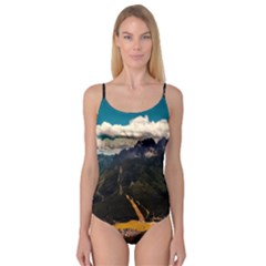Italy Valley Canyon Mountains Sky Camisole Leotard