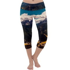 Italy Valley Canyon Mountains Sky Capri Yoga Leggings