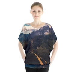 Italy Valley Canyon Mountains Sky Blouse