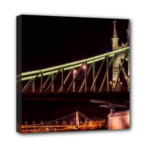 Budapest Hungary Liberty Bridge Mini Canvas 8  X 8