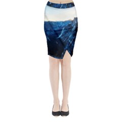 Yosemite National Park California Midi Wrap Pencil Skirt