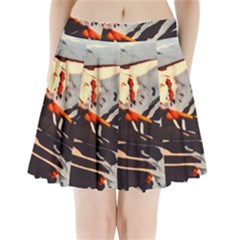 Iceland Landscape Mountains Snow Pleated Mini Skirt