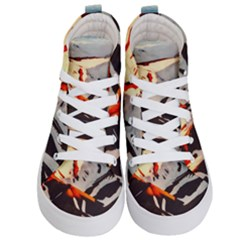 Iceland Landscape Mountains Snow Kid s Hi Top Skate Sneakers